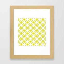 Interlocking Yellow Framed Art Print