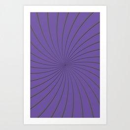 3D Purple and Gray Thin Striped Circle Pinwheel Digital Graphic Design Art Print