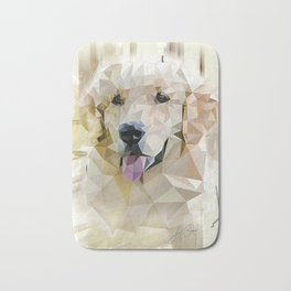 Golden Retriever (Low Poly) Bath Mat