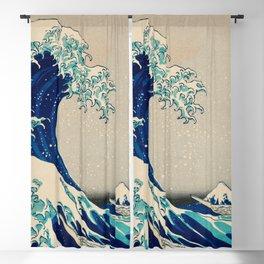 Katsushika Hokusai - Kanazawa Oki Nami Ura Blackout Curtain