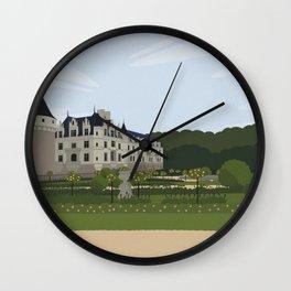 Chateau de Chenonceau (no writing) Wall Clock