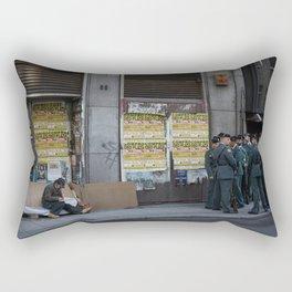 Streets of Madrid Rectangular Pillow