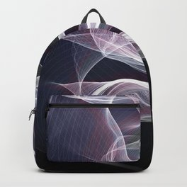 Moody & Beautiful Smoky lacy flux - black, blue, pink #abstractart Backpack