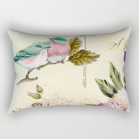 Sweet birds #4 Rectangular Pillow