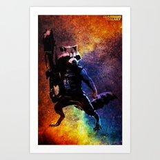 Guardians of the Galaxy series: Rocket Raccoon  Art Print