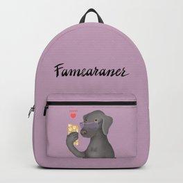 Famearaner (Pink Background) Backpack