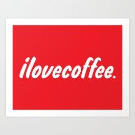 I love [illy] coffee Art Print