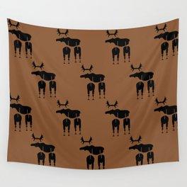 Brown Moose Pattern Wall Tapestry