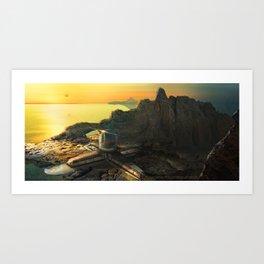 Ocean Island Art Print