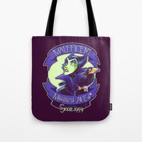 maleficent Tote Bags featuring Maleficent by KanaHyde