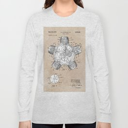 patent art Aldridge 1971 Radial engine Long Sleeve T-shirt