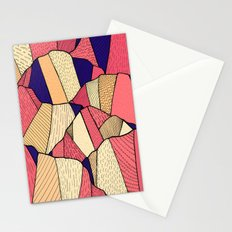 The pattern of hills Stationery Cards