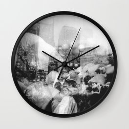 Union Square Pillow Fight Wall Clock