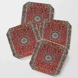 N63 - Red Heritage Oriental Traditional Moroccan Style Artwork Coaster