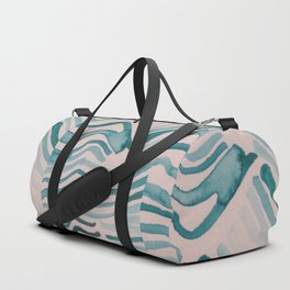 Trippy Turquoise Waves Duffle Bag