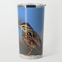 Male Savannah Sparrow Travel Mug