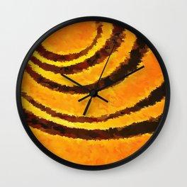 Pop Art Tiger Stripe Animal Print Wall Clock