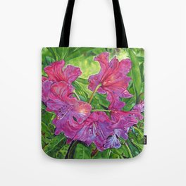 Pink Rhodo Tote Bag