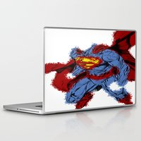 man of steel Laptop & iPad Skins featuring Man Of Steel by alsalat