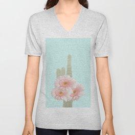 Cactus Flowers Bouquet Unisex V-Neck