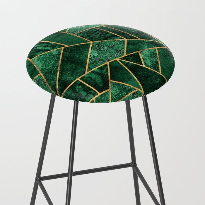 Deep Emerald Bar Stool
