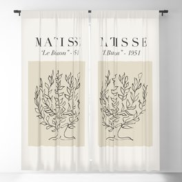 """Matisse - """"Le Buisson"""", Mid Century Abstract Art Decor Blackout Curtain"""