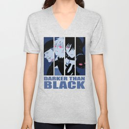 Darker Than Black Huang Hei Yin And Mao Unisex V-Neck