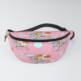 Lion Head Goldfish Pink Fanny Pack