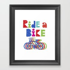Ride a Bike - Sketchy Framed Art Print