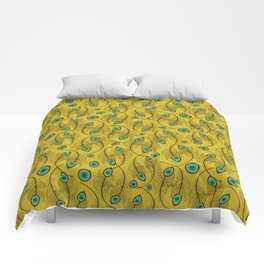 Dance like a peacock with feather design Comforters