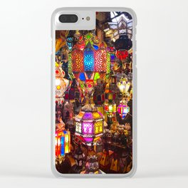 Lamps in the Souk, Fez Morocco, Africa Clear iPhone Case