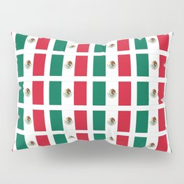 Flag of mexico 2- mexico,mexico city,mexicano,mexicana,latine,peso,spain,Guadalajara,Monterrey Pillow Sham