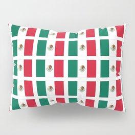 Flag of mexico 2- mexico,mexico city,mexicano,mexicana,latine,peso,spain,Guadalajara,Monterrey Pillow Sham