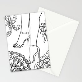 foot fetish Stationery Cards