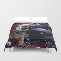 stephen king Duvet Covers featuring Stephen King by Saint Genesis