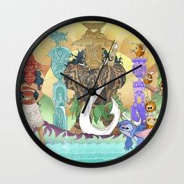 Tiki Hide & Seek Wall Clock