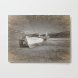 Fishing Boat in Nefyn Metal Print