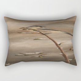 A Lonely Lady Tuft Rectangular Pillow