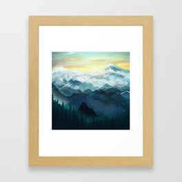 Mountain Range Framed Art Print