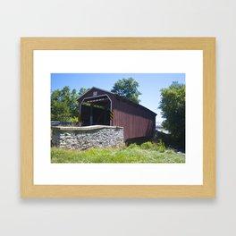Landis Mill Covered Bridge Framed Art Print
