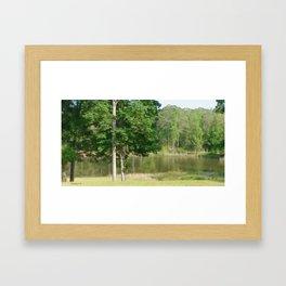 Wimborne Lake Framed Art Print