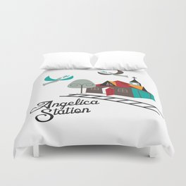 Angelica Station Duvet Cover
