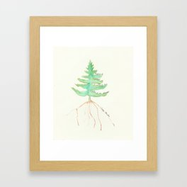 Tree with Isaac Newton Quote Framed Art Print
