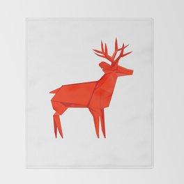 Origami Deer Throw Blanket