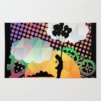 magical girl Area & Throw Rugs featuring magical  by mark ashkenazi