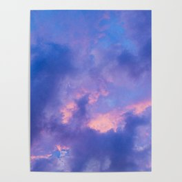 Dusk Clouds Poster