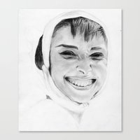 audrey Canvas Prints featuring Audrey by Belay