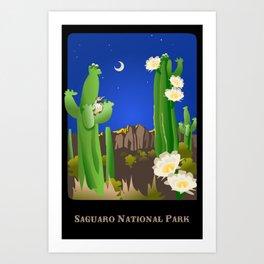 Saguaro National Park Art Print