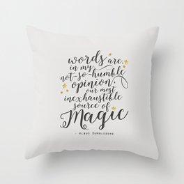 Dumbledore's Magic Words Throw Pillow