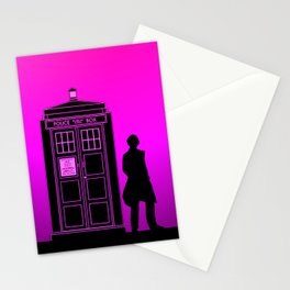 Tardis With The Fifth Doctor Stationery Cards